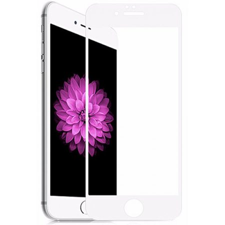 Защитное стекло 2D для iPhone 6/6S, белая рамка