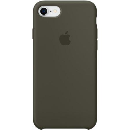 Силиконовый чехол для iPhone7/8, тёмно-оливковый цвет
