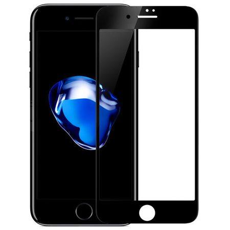 Защитное стекло 2D для iPhone 7, черная рамка