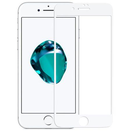 Защитное стекло 5D для iPhone 7 Plus, белая рамка