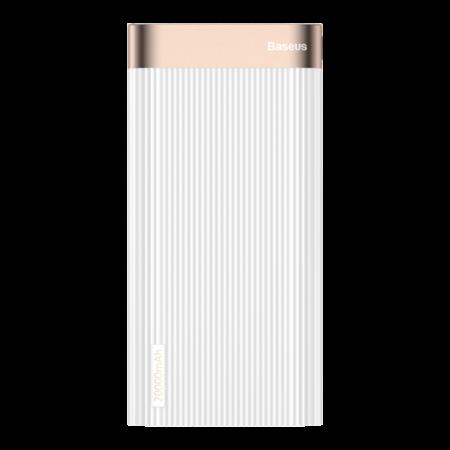 Внешний аккумулятор Baseus Parallel Type-C PD +QC3.0 power bank 20000mAh 18W, белый