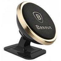Автомобильный держатель Baseus 360 Rotation Magnetic Mount Holder, золото