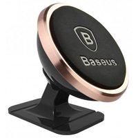Автомобильный держатель Baseus 360 Rotation Magnetic Mount Holder, розовое золото