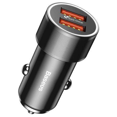 Автомобильная зарядка Baseus Small Screw Dual-USB 3.4A  (CAXLD-C01)