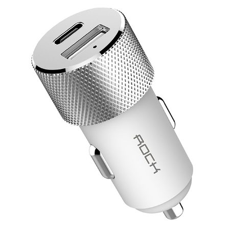 Автомобильная зарядка  ROCK Sitor PD Fast Charge USB Type-C USB 3.0 (RCC0131) White