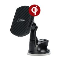 Автомобильный держатель Pitaka MagMount Qi Pro Suction USB-C (Black)