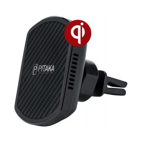 Автомобильный держатель Pitaka MagMount Qi Pro Vent USB-C (Black)