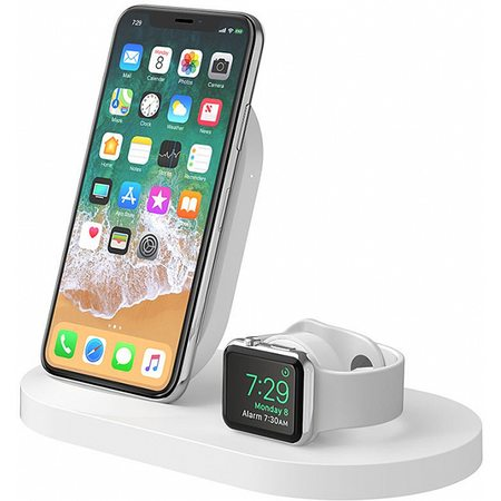 Беспроводная док-станция Belkin BoostUp F8J235vfWHT для iPhone/Apple Watch (White)
