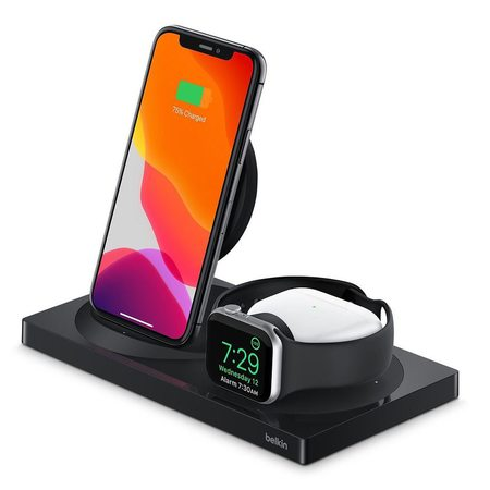 Беспроводная зарядная станция Belkin 3-в-1 iPhone + Apple Watch + AirPods Black