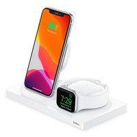 Беспроводная зарядная станция Belkin 3-в-1 iPhone + Apple Watch + AirPods White