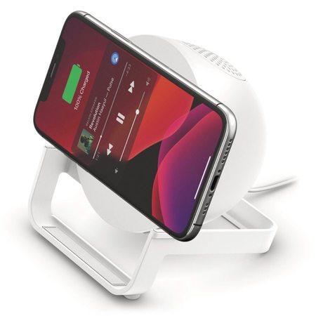 Беспроводная зарядная станция Belkin Wireless Boost Charge + колонка White