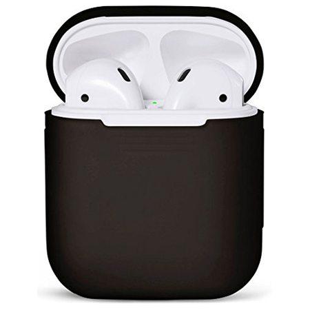 Силиконовый чехол для наушников AirPods, черный