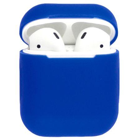Силиконовый чехол для наушников AirPods, синий