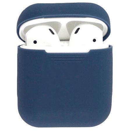 Силиконовый чехол для наушников AirPods, темно-синий