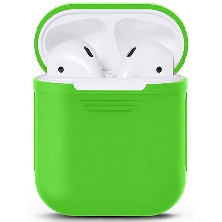 Силиконовый чехол для наушников AirPods, зеленый