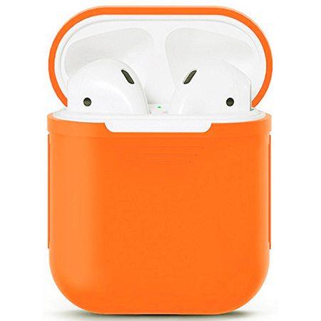 Силиконовый чехол для наушников AirPods, оранжевый