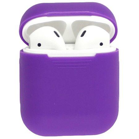 Силиконовый чехол для наушников AirPods, фиолетовый