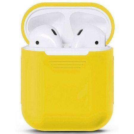 Силиконовый чехол для наушников AirPods, желтый