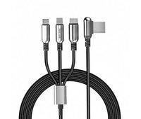 Кабель Hoco U17 Capsule Cable 3 в 1 - Micro + Lightnihg + Type C - 1.5м
