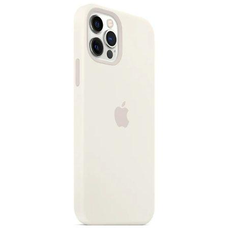 Силиконовый чехол для iPhone 12 Pro Max, белый цвет