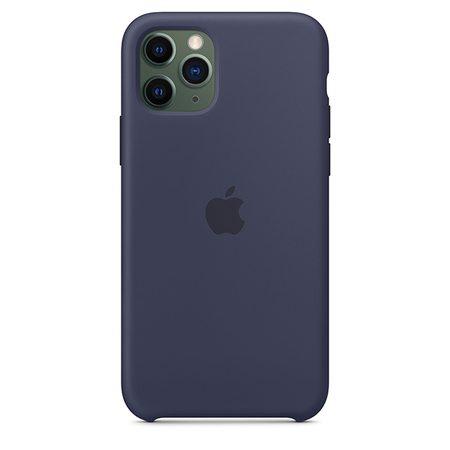 Силиконовый чехол для iPhone 11 Pro, тёмно-синий цвет