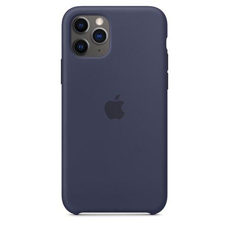 Силиконовый чехол для iPhone 11 Pro Max, тёмно‑синий цвет