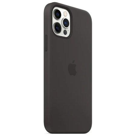 Силиконовый чехол для iPhone 12 Pro Max, чёрный цвет
