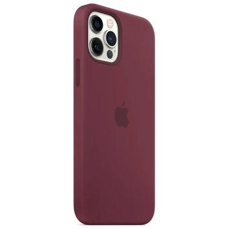 Силиконовый чехол для iPhone 12 Pro, сливовый цвет