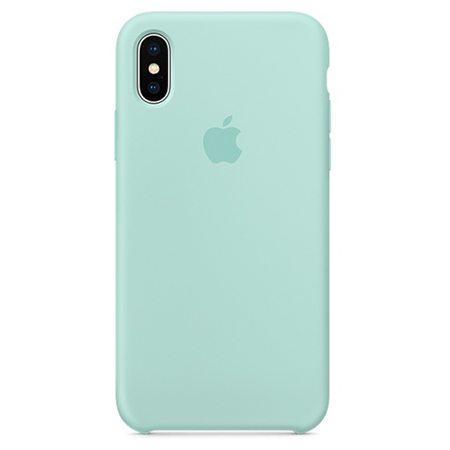 Силиконовый чехол для iPhone X, цвет «зелёная лагуна»