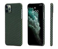 Чехол Pitaka MagCase для iPhone 11 Pro Max, черно-зеленый