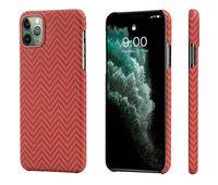Чехол Pitaka MagCase для iPhone 11 Pro Max, красно-оранжевый