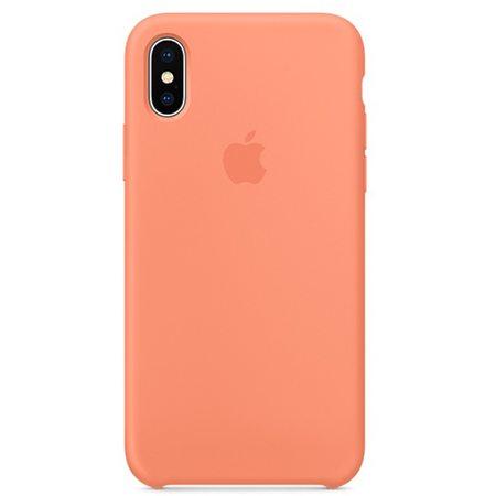 Силиконовый чехол для iPhone X, цвет «сочный персик»