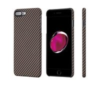 Чехол Pitaka MagCase (Кевлар) для iPhone 8/7 Plus черно-коричневый в полоску