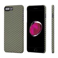 Чехол Pitaka MagCase (Кевлар) для iPhone 8/7 Plus черно-зеленый в полоску