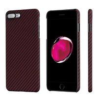 Чехол Pitaka MagCase (Кевлар) для iPhone 8/7 Plus красно-черный в полоску