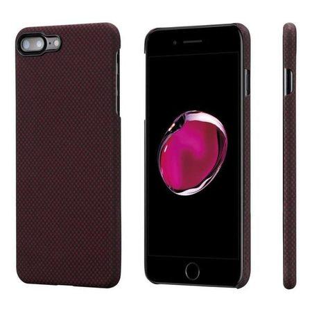 Чехол Pitaka MagCase (Кевлар) для iPhone 8/7 Plus красно-черный в шашку