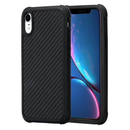 Противоударный карбоновый чехол Pitaka MagCase PRO для iPhone XS/X черно-серый в полоску