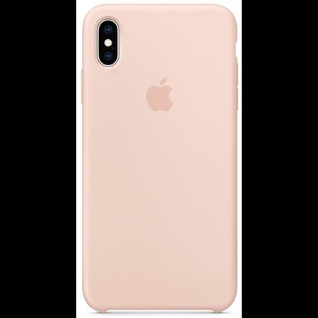 Силиконовый чехол для iPhone XS, цвет «розовый песок»