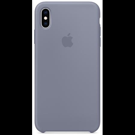 Силиконовый чехол для iPhone XS, цвет «тёмная лаванда»