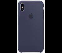 Силиконовый чехол для iPhone XS Max, тёмно-синий цвет
