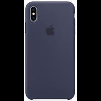 Силиконовый чехол для iPhone XS, тёмно-синий цвет