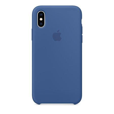 Силиконовый чехол для iPhone XS, цвет «голландский синий»