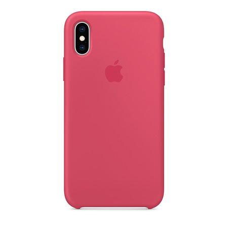 Силиконовый чехол для iPhone XS, цвет «красный каркаде»