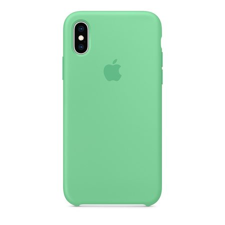 Силиконовый чехол для iPhone XS, цвет «нежная мята»