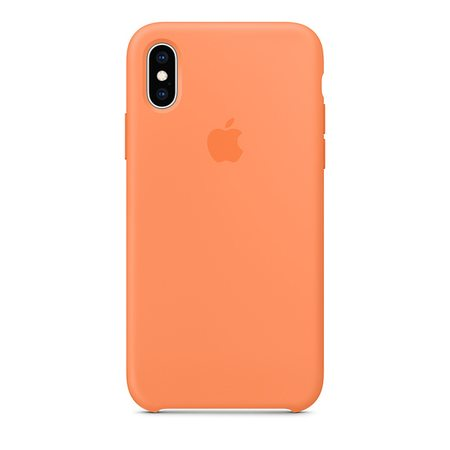 Силиконовый чехол для iPhone XS, цвет «свежая папайя»