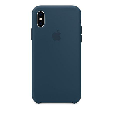 Силиконовый чехол для iPhone XS, цвет «тихий океан»