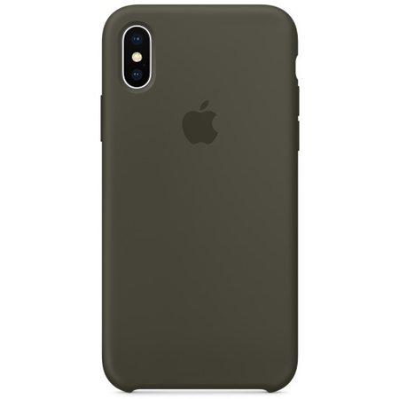 Силиконовый чехол дляiPhoneX, тёмно-оливковый цвет