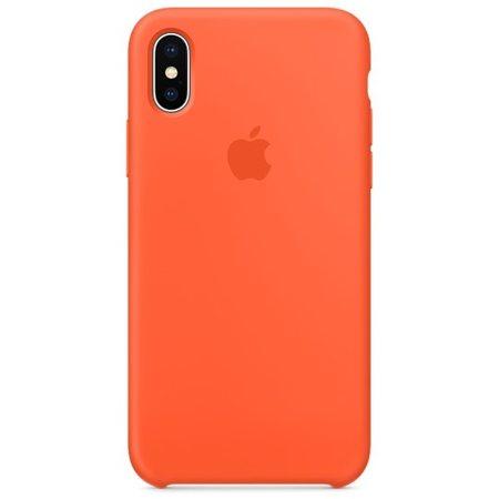 Силиконовый чехол для iPhoneX, цвет «оранжевый шафран»