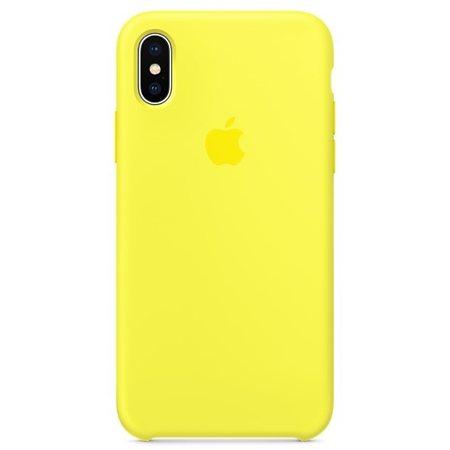 Силиконовый чехол для iPhoneX, цвет «жёлтый неон»