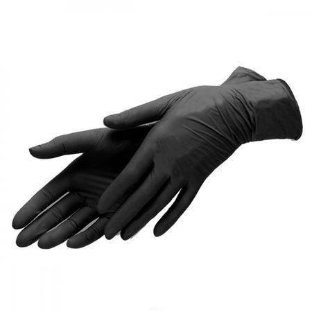 Перчатки нитриловые (100шт), черный S